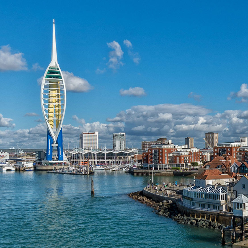 Overlooking the Spinnaker Tower and Old Portsmouth